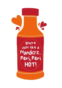 Send this Chilli Melon card to that person in your life that isn't just lemon and herby but is peri-peri hot!