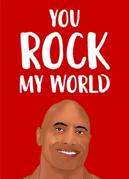 If your lover is a WWE fan, send the legend that is The Rock to wish them a very happy Valentine's Day. Designed by The Cake Thief.