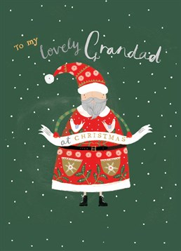 Say Merry Christmas to your Grandad with this festive Father Christmas card by Cardmix