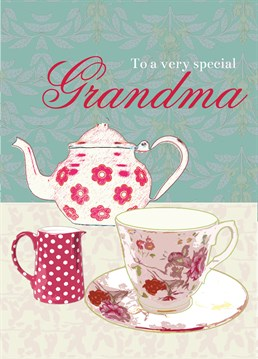 Special Grandma. Birthday Card For Grandmothers by Laura Darrington. Show your grandma how much she means to you with this sweet card.