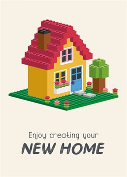 Put your stamp on your new home! Send this cute Lego brick house card to a new home owner. Created by Design By Day.