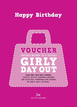 No prezzie can compete with treating your best friend to a fab birthday day out that you'll all remember! Surprise her with this cute and thoughtful design by Love Day.
