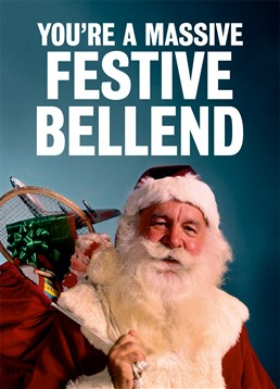 Send a massive bell end this hilariously festive card by Dean Morris.