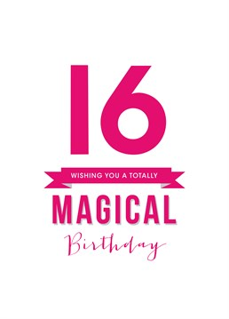 Let the magic begin. Send this great birthday card from Doodlelove for her sweet sixteenth!
