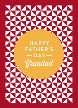 Happy Father 's Day Grandad Red & White, by Scribbler. He's up there with there with your favourite people, so why not show it! Make his day this Father's Day!