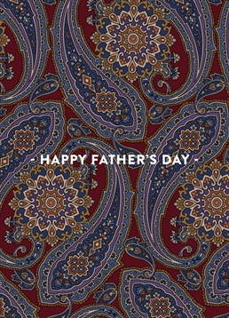Happy Father's Day Brown Paisley Card, by Scribbler. This cool paisley style card is perfect for the dad who likes to stand out!