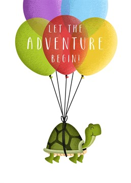 Wish the adventurous traveller the best of luck on their voyage with this great card from Folio!
