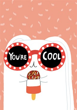 If a bunny with a fab thinks your cool then it's official. Send this fab card from Forever Funny to your super cool friend to make their day.