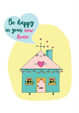Wish your friends well in their new home with this cute card by Forever Funny.