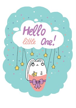 There isn't a better way to welcome someone into the world than with a cloud riding rabbit! Welcome the tiny little person with this incredibly cute card from Forever Funny.