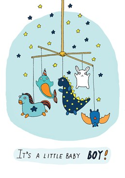 Say welcome to the world with this new little baby boy card by Forever Funny.