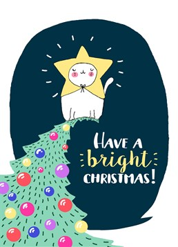 Have A Bright Christmas, by Forever Funny. I'm pretty sure placing a cat on top of a Christmas tree for a month is probably unethical ? but it is darn cute. Send this super sweet card this Christmas to brighten up someone's day.