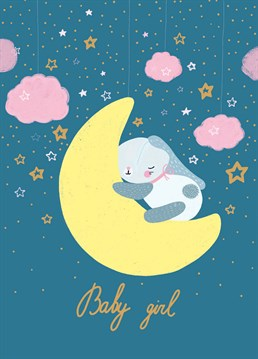 Over the moon to celebrate the arrival of a new baby girl? Send this sweet design by Forever Funny.