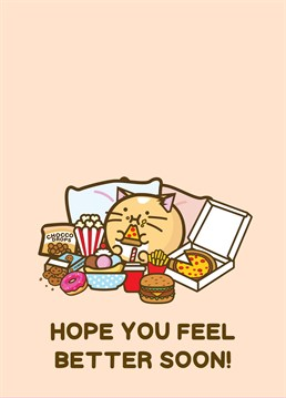 You know there's something wrong when they're not stuffing their face! Wish them back to full health and appetite with this cute get well design by Fuzzballs.