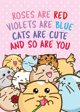 Let a loved one know they are as cute as a kitten with this Fuzzballs card.