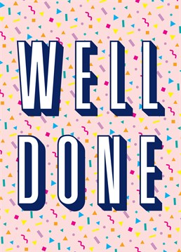 This Scribbler card is a great way to say congratulations. Perfect for someone who's done something really special.