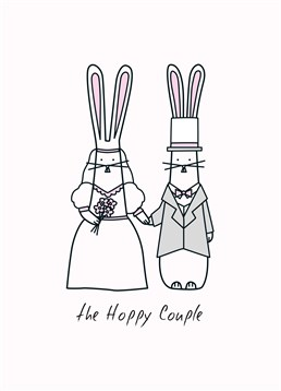 Send your congratulations to the happy couple on their wedding day with this cute Hoppy Bunnies card.