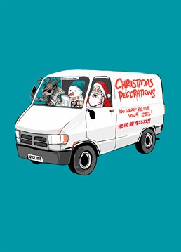 If you know a man with a van who's always dreaming up a new money-making scheme, give him a chuckle (and maybe a new idea?!) with this How Funny Christmas card.