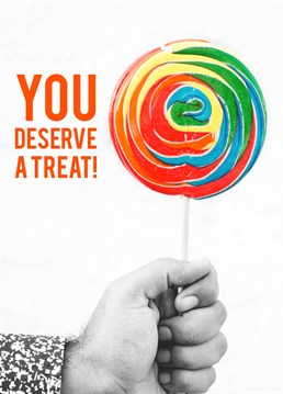 They've absolutely nailed it, so they deserve a massive lollipop - or at least a nice card with one on. Tell them Well Done with this cute card from Huetribe.