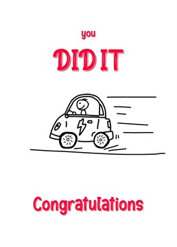 Congratulations on Passing your Driving Test from it's a sign of the time