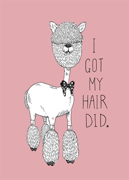 Do you know someone who spends more time at the salon that anywhere else? Then send them this cute Jolly Awesome card.