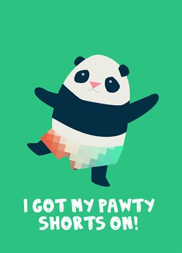 Who's ready for a panda party? Send this adorable Jolly Awesome card to someone who loves pandas.
