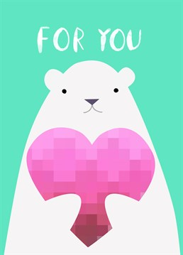 Let your better half know how you feel with this cute Valentine's card by Jolly Awesome.