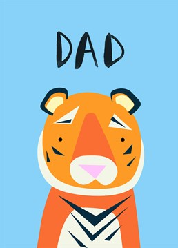 This adorable card from Jolly Awesome is perfect to send to your Dad on Father's Day.