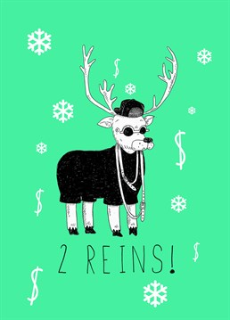 This silly Jolly Awesome card is perfect to send to a hip hop fan this Christmas.