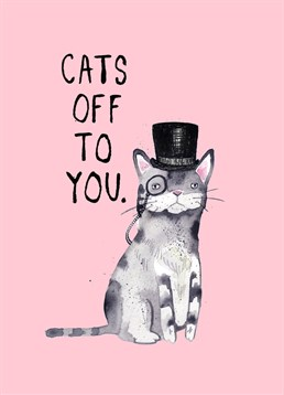 Send this Jolly Awesome card to someone who loves cats and puns!