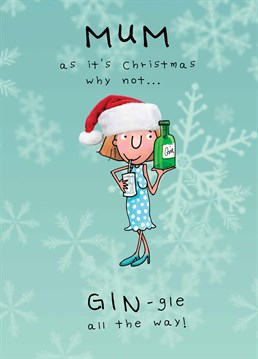 Gift your alcoholic mother a great painkiller this Christmas! A card designed by JellynBean.