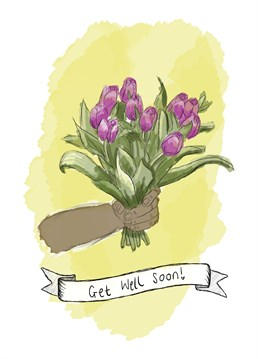 Are tulips their favourite bloom? Then this get well card is sure perk them up! Designed by Kitsch Noir.