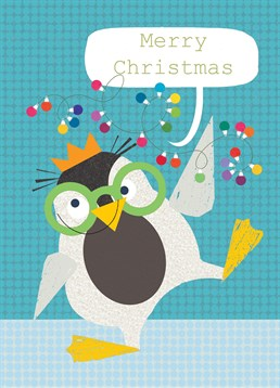 We love the look of this fun and funky penguin card by Kali Stileman, perfect for your friends at Christmas.