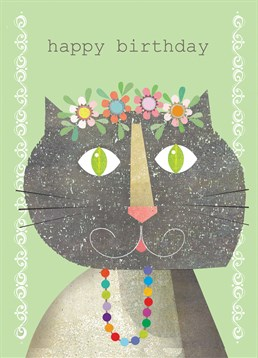 Send this funky card by Kali Stileman on their birthday and put a smile on their face.