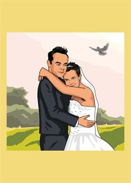 Ah, they've finally admitted it's love! Ant and Dec getting married, as requested by Rick Neary. Hilarious Jim'll Paint It design by Lesser Spotted Images.