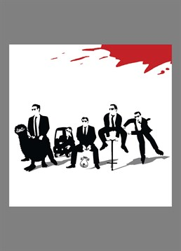Reservoir Dogs end scene parody, as requested by Matt. Hilarious Jim'll Paint It design by Lesser Spotted Images, perfect for any classic film buff.