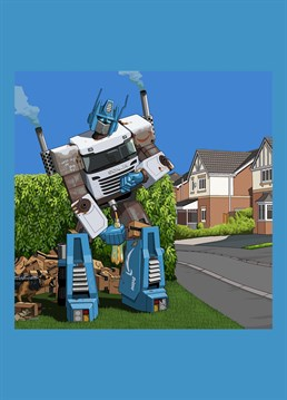 Optimus Amazon Prime, as requested by Josie Hypatia Grounds. Jim'll Paint It design by Lesser Spotted Images, the perfect choice for any Transformers fan.