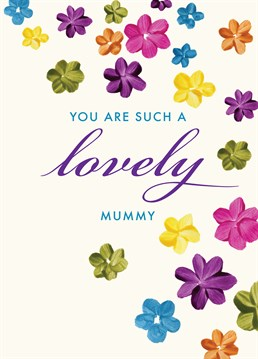 Send this beautiful Lucilla Lavender card to your Mum this Mother's Day and tell her how lovely she is.