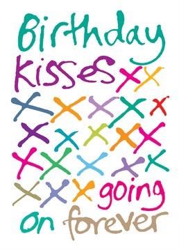 Do you have a lot of birthday kisses to give out? This Lucilla Lavender card is ideal for you then!