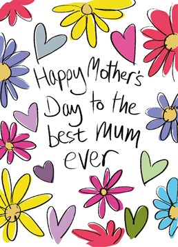 Say Happy Mother's Day with this lovely card by Lucilla Lavender and let your Mum know how special she is.