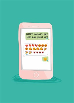 When you teach your Mum how to use emojis and instantly regret it! Mother's Day design by Lucy Maggie.