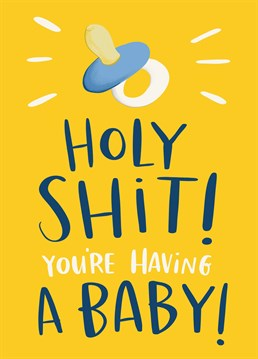 Having a baby is a massive deal! Warn them of all the sleepless nights and dirty nappies with this brilliant Lucy Maggie card.
