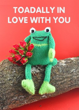 Take a leap and confess your feelings with this toadally cute Valentine's card by Mint.