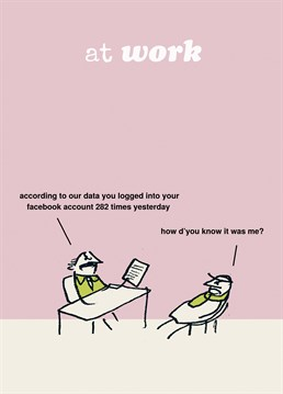 Big brother is watching you! No, seriously, he is. A great personalised everyday card from Modern Toss.