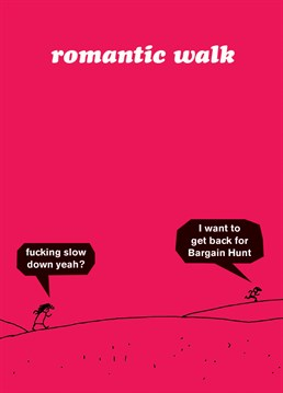 We're not saying that the sparks have completely gone from your relationship but your partner does have more sexual tension with the remote control these days? Designed by Modern Toss.