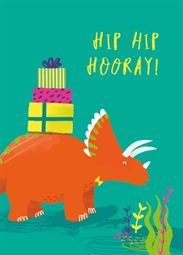 We're not saying they're a dinosaur but they are another year older! Birthday design by Middle Mouse.