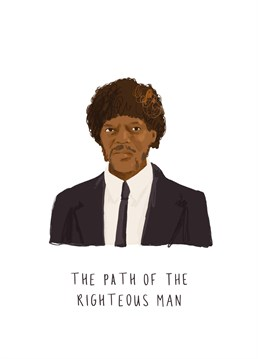 The must-have card for any Tarantino lover who has this entire speech memorised. Pulp Fiction inspired design by Middle Mouse.
