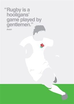 This My World card is ideal for any rugby fanatic out there for any occasion.