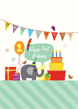 Send this ridiculously cute card by My World to a little one celebrating their first birthday.