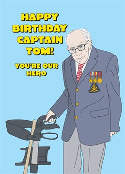 Show your appreciation to a true hero, Tom Moore, who walked 100 lengths of his garden to raise money for our NHS. Go on, say happy birthday with this wonderful Scribbler card.